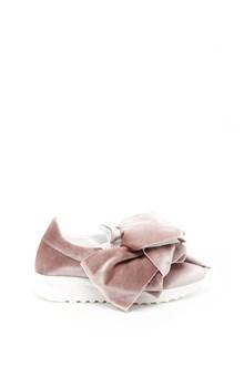 JOSHUA SANDERS velvet 'Flamingo'  sneaker with bow