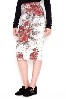 PRADA wool skirt with flower bouquet print