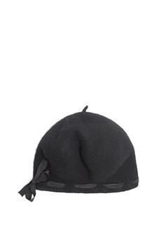 YESEY wool hat with satin lace and bow