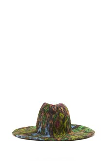 YESEY 'Taupè' multicoloured felt  wide-brimmed hat