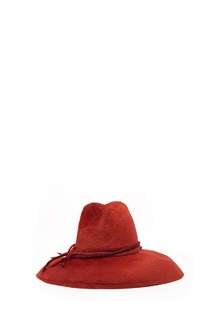 YESEY 'Taupè' red felt  wide-brimmed hat