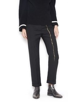 HAIDER ACKERMANN cropped trousers with gold detail