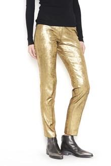 NUDE laminated velvet skinny trousers