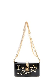 "DOLCE & GABBANA clutch from Dolce & Gabbana: ""dolce box"" pvc clutch with print I'm a Star"