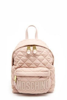 MOSCHINO nylon backpack with logo and zip