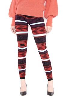 LANEUS jacquard multicoloured leggings