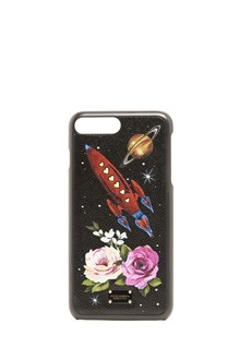 DOLCE & GABBANA leather cover iphone 7 plus with roses print