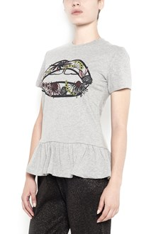 MARKUS LUPFER 'Artic flower lip' printed t-shirt