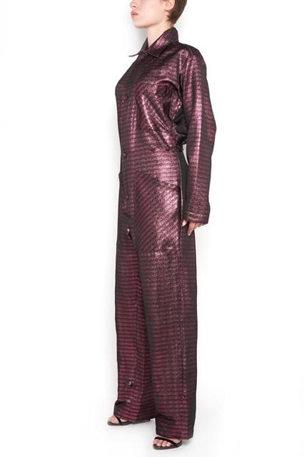 ULTRACHIC Striped glittered lurex  jumpsuit
