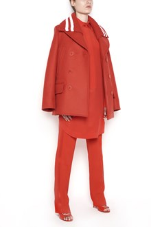 GIVENCHY caban wool coat with knited neck