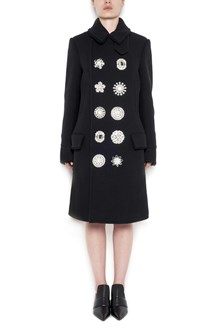 GIVENCHY wool coat with jewel buttons