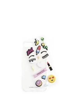 CHIARA FERRAGNI transparent case iphone 7 with glitter and eyes liquid