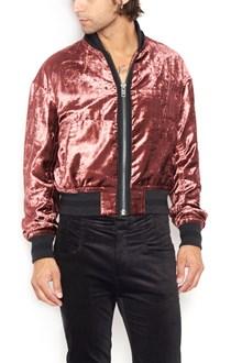 HAIDER ACKERMANN velvet bomber jacket with zip closure