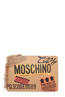 MOSCHINO printed clutch with zip