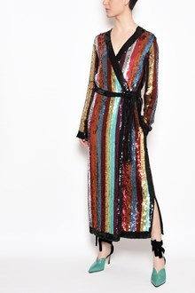 ATTICO Multicolor sequins dress with belt