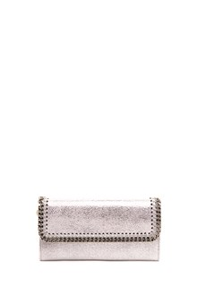 "STELLA MCCARTNEY ""falabella"" silver wallet with chain"