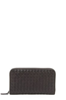 BOTTEGA VENETA intersect leather wallet with zip
