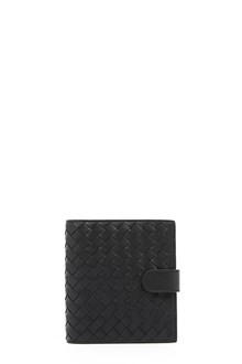 BOTTEGA VENETA intersect leather wallet with zip and clip