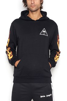 PALM ANGELS printed palm flames hoodie