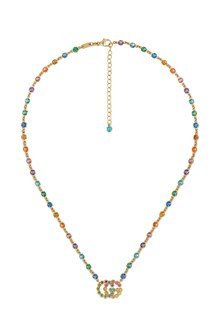 GUCCI 18kt golden gold necklace with multicolor stones