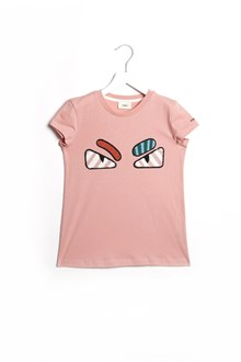 FENDI KIDS Jersey t-shirt with  eyes patches