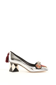 DOLCE & GABBANA mirrow decollette with details and heel