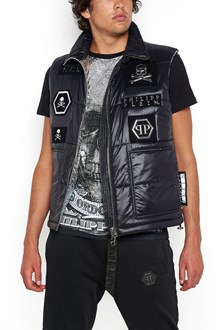 PHILIPP PLEIN double-face padded vest with patch