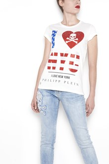 PHILIPP PLEIN cotton printed t-shirt with swarowsky