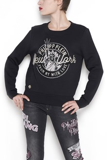 PHILIPP PLEIN cotton sweatshirt with swarowsky