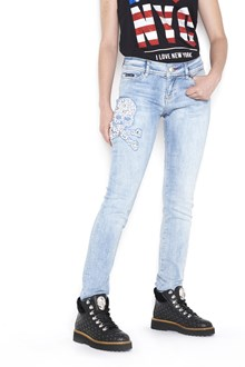 "PHILIPP PLEIN slim fit denim with embroidery ""chicago sara"""