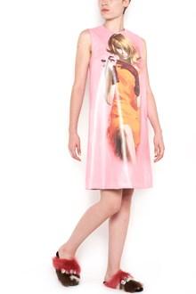 PRADA mini dress with poster girl print