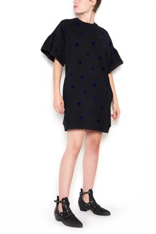 McQ ALEXANDER McQUEEN dress sweater with micro swallows blue