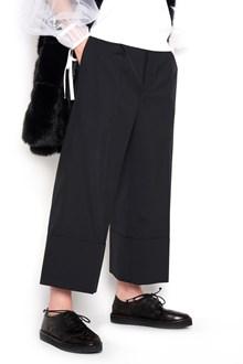 NOIR KEI NINOMIYA trousers with turn-up at the bottom