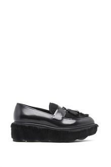 PRADA calf leather slippers with platform