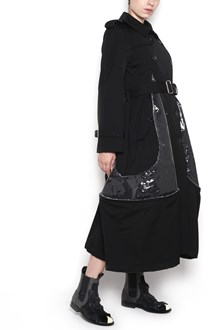 COMME DES GARÇONS wool trench with pvc insert