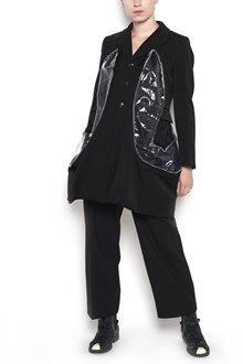 COMME DES GARÇONS long wool jacket with pvc insert