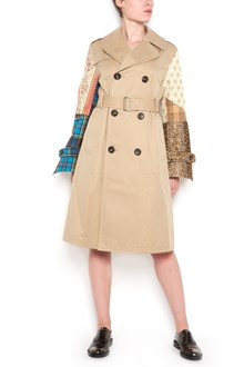 JUNYA WATANABE trench with sleeves patchwork and waist belt