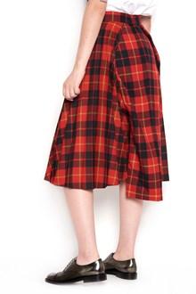 JUNYA WATANABE plisse checked tartan skirt pants