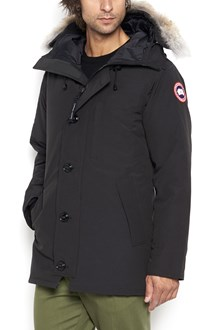 CANADA GOOSE padded jacket with fur hood