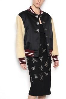 N°21 Bomber jacket with eco-fur sleeves