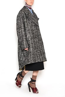 N°21 Coat with swarovski and button accents