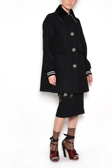 N°21 Coat with jewel buttons