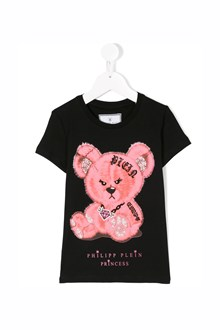"PHILIPP PLEIN JUNIOR round neck ""popps"" cotton t-shirt"