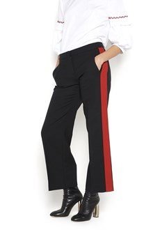 ALEXANDER MCQUEEN wool trousers with red bands on side