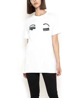 "CHIARA FERRAGNI cotton t-shirt regular fit with ""flirting"" embroidery"