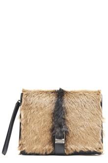 PRADA goat leather clutch with zip