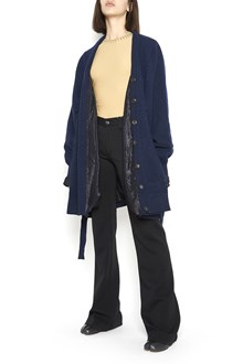 MAISON MARGIELA wool cardigan with pockets and belt