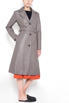 BOTTEGA VENETA deer leather coat with waist belt