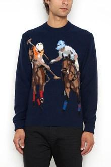 BALLANTYNE Crew-neck embroidered cardigan