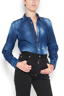 DSQUARED2 Denim shirt with rouches